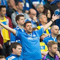 Rosenborg v St Johnstone....18.07.13  UEFA Europa League Qualifier.<br /> St Johnstone fan Steven Watt<br /> Picture by Graeme Hart.<br /> Copyright Perthshire Picture Agency<br /> Tel: 01738 623350  Mobile: 07990 594431