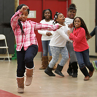 Adam Robison | BUY AT PHOTOS.DJOURNAL.COM<br /> Jada Shelton, 8, a second grader at Parkway Elementary School, dances during the freestyle dance time in Mary Frances Massey's dance class Tuesday morning at the school.
