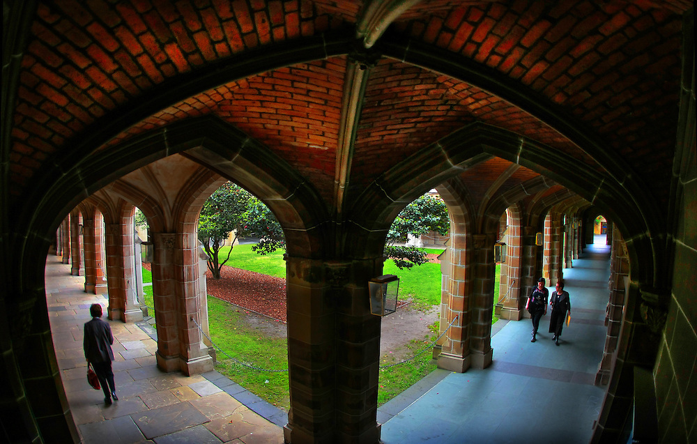 Law cloisters University of Melbourne ...Melbourne University  Pic By Craig Sillitoe  02/10/2008 SPECIALX 000 melbourne photographers, commercial photographers, industrial photographers, corporate photographer, architectural photographers,<br />