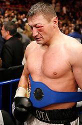 January 19, 2008; New York, NY, USA;  Andrew Golota leaves the ring after defeating Mike Mollo in their 12 round heavyweight bout at Madison Square Garden in New York, NY.  Golota won the bout via unanimous decision.