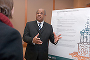 18034Founders Day Celebration  in New Baker Center 2/02/07:Poster Sessions ....Vibert Cambridge