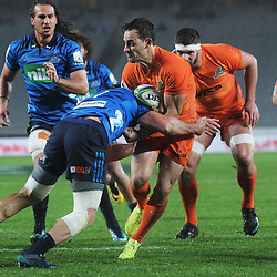 Nicolas Sanchez in action during the Super Rugby match between the Blues and Jaguares at Eden Park in Auckland, New Zealand on Friday, 28 April 2018. Photo: Dave Lintott / lintottphoto.co.nz