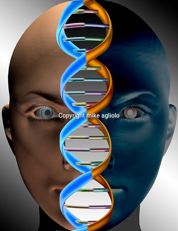 dna on face