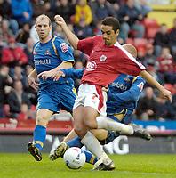 Photo: Ed Godden.<br />Bristol City v Doncaster Rovers. Coca Cola League 1. 28/10/2006. Bristol City's Scott Murray has a shot on goal.