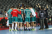Team Belarus during the EHF 2018 Men's European Championship, 2nd Round, Handball match between Serbia and Belarus on January 24, 2018 at the Arena in Zagreb, Croatia - Photo Laurent Lairys / ProSportsImages / DPPI