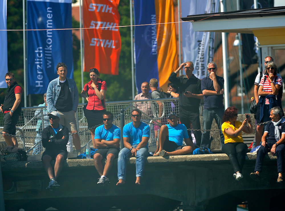 Crowds watching Match Race Germany in Langenargen. Photo:Chris Davies/WMRT