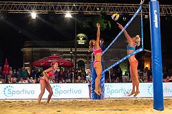 Jelena Pesic vs Kristel Kiens at Beach Volleyball Challenge Ljubljana 2014, on August 1, 2014 in Kongresni trg, Ljubljana, Slovenia. Photo by Matic Klansek Velej / Sportida.com