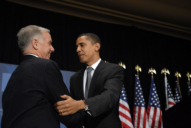 DNC Chairman, Howard Dean, with Barack Obama at the Fall meeting of the Democratic National Committee