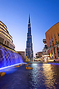 Burj Khalifa and The Dubai Mall in Downtown Dubai