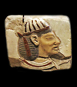 Fragments of Egyptian palatial decor: foreign prisoners are depicted