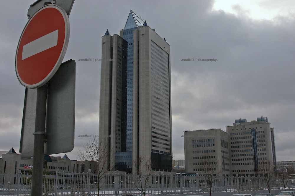 Die Zentrale des Gazprom Konzerns in Moskau. The Gazprom headquarters in Moscow.