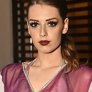 Sophia Jessica Rose ia a singer and model backstage at SMGlobal Catwalk - London Fashion Week F/W19 at Clayton Crown Hotel,  Cricklewood Broadway, on 1st March 2019, London, UK.