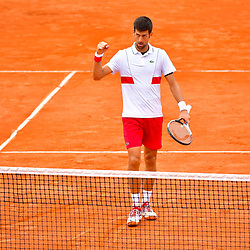 Novak Djokovic of Serbia celebrates winning during Day 6 of the French Open 2018 on June 1, 2018 in Paris, France. (Photo by Dave Winter/Icon Sport)