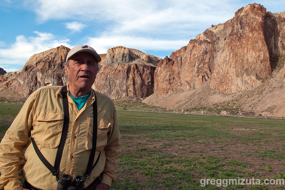Bob Kiernan at Birch Creek campground.<br />