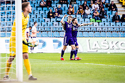 Luka Zahovic of NK Maribor with Dino Hotic of NK Maribor during football match between NK Maribor and NK Krsko in 35th Round of Prva liga Telekom Slovenije 2018/19, on May 22nd, 2019, in Stadium Ljudski vrt, Maribor, Slovenia Photo Grega Valancic / Sportida