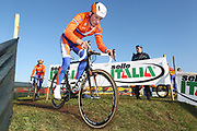 ITALY / ITALIE / ROME / CYCLING / WIELRENNEN / CYCLISME / CYCLOCROSS / CYCLO-CROSS / VELDRIJDEN / WERELDBEKER / WORLD CUP / COUPE DU MONDE / TRAINING / IPPODROMO CAPANNELLE / MIKE TEUNISSEN /
