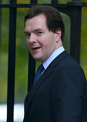 © Licensed to London News Pictures. 18/10/2012. Westminster, UK Chancellor George Osborne on Downing Street today, 18 October 2012. Photo credit : Stephen Simpson/LNP