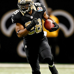 December 16, 2012; New Orleans, LA, USA; New Orleans Saints running back Mark Ingram (28) against the Tampa Bay Buccaneers during the fourth quarter of a game at the Mercedes-Benz Superdome. The Saints defeated the Buccaneers 41-0. Mandatory Credit: Derick E. Hingle-USA TODAY Sports