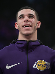 November 21, 2017 - Los Angeles, California, United States of America - Lonzo Ball #2 of the Los Angeles Lakers during practice prior to their game with the Chicago Bulls on Tuesday November 21, 2017 at the Staples Center in Los Angeles, California. Lakers defeat Bulls, 103-94. JAVIER ROJAS/PI (Credit Image: © Prensa Internacional via ZUMA Wire)