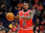 Nov. 14, 2012; Phoenix, AZ, USA; Chicago Bulls guard Nate Robinson (2) handles the ball during the game against the Phoenix Suns in the first half at US Airways Center. Mandatory Credit: Jennifer Stewart-US PRESSWIRE.