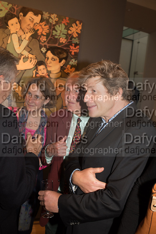 ORIANA TICKELL; CRISPIN TICKELL; LEO JOHNSON, Exhibition opening of paintings by Charlotte Johnson Wahl. Mall Galleries. London, 7 September 2015.