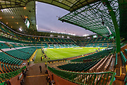 Final preparations underway at Celtic Park ahead of the Europa League match between Celtic and CFR Cluj at Celtic Park, Glasgow, Scotland on 3 October 2019.