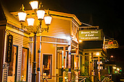 Downtown galleries at night, Cambria, California