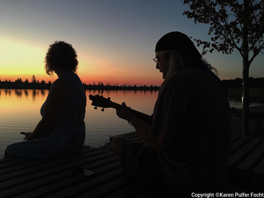 Serenade at Shelby Farms at sunset.