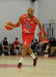 Cardell McFarland of Bristol Flyers - Mandatory byline: Alex James/JMP - 07966 386802 - 26/09/2015 - FOOTBALL - SGS Wise Campus - Bristol, England - Bristol Flyers v Cheshire Phoenix - British Basketball League