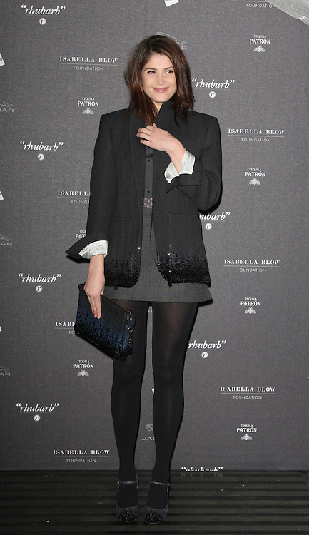Gemma Arterton arriving at the opening of the  Isabella Blow at the Isabella Blow exhibition at Somerset House in London, Tuesday, 19th November 2013   Photo by: i-Images