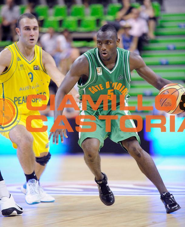 DESCRIZIONE : Tournoi Villeurbanne Preparation Championnat du monde Australie Cote d' Ivoire<br /> GIOCATORE : Diabate Souleyman<br /> SQUADRA : Cote D'Ivoire<br /> EVENTO : France Basket Homme 2010<br /> GARA : Australie Cote d' Ivoire<br /> DATA : 24/08/2010<br /> CATEGORIA : Basketball Action Homme<br /> SPORT : Basketball<br /> AUTORE : JF Molliere FFBB par Agenzia Ciamillo-Castoria <br /> Galleria : France Basket Action Homme 2010 <br /> Fotonotizia : Tournoi Villeurbanne Preparation Championnat du monde Australie Cote d' Ivoire<br /> Predefinita :
