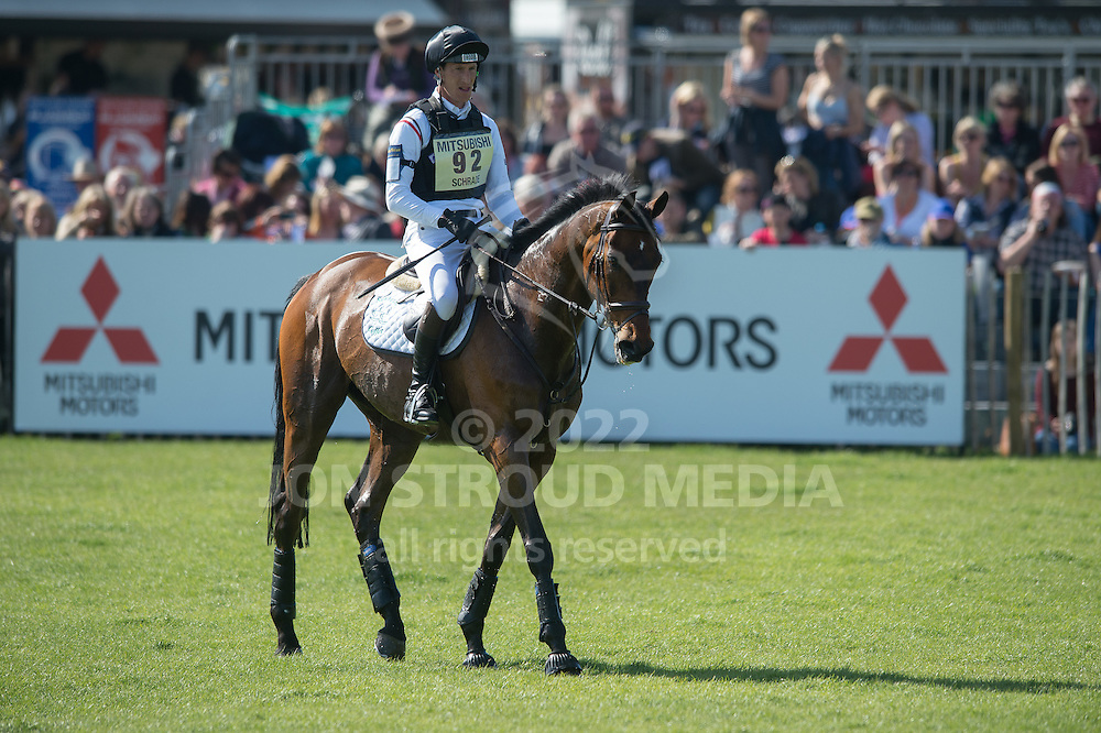 Dirk Schrade (GER) & King Artus retire from the cross country phase of the Mitsubishi Motors Badminton Horse Trials - CCI4* - Badminton, Gloucestershire, United Kingdom - 05 May 2013
