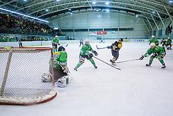 Save by Pierre Svensson of EHC Bregenzerwald during 5th game of final INL league ice hockey match between HK Playboy Slavija and EHC Bregenwald at Dvorana Zalog, on April 3, 2013, in Ljubljana, Slovenia. (Photo by Matic Klansek Velej / Sportida)