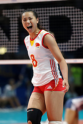 CHINA ZENG CHUNLEI<br /> USA - CHINA <br /> FINAL VOLLEYBALL WOMEN'S WORLD CHAMPIONSHIP 2014<br /> MILAN (ITA) 12-10-2014<br /> PHOTO BY FILIPPO RUBIN