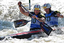 June 2, 2018 - Prague, Czech Republic - Tomas Kucera and Jan Batik of Slovakia in action during the Men's C2 finals at the European Canoe Slalom Championships 2018 at Troja water canal in Prague, Czech Republic, 02 June 2018. (Credit Image: © Slavek Ruta via ZUMA Wire)