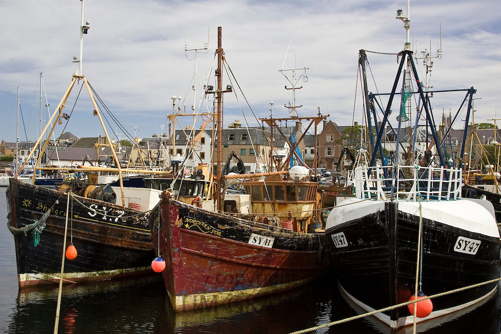Trawler fishing boats in Stornoway, Outer Hebrides, United Kingdom