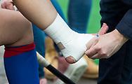 BILTHOVEN - hoofdklasse competitie dames, SCHC-Amsterdam.  ingetapede enkel.   COPYRIGHT KOEN SUYK