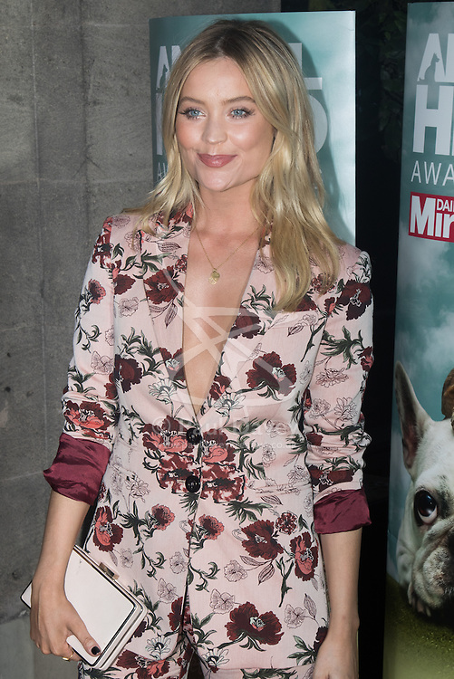 Grosvenor House Hotel, London, September 7th 2016. Celebrities attend the RSPCA's annual awards ceremony recognising the country's bravest animals and the individuals committed to improving their lives. PICTURED: TV presenter Laura Whitmore.
