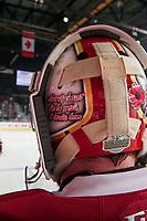 REGINA, SK - MAY 20: Evan Fitzpatrick #31 of Acadie-Bathurst Titan helmet at the Brandt Centre on May 20, 2018 in Regina, Canada. (Photo by Marissa Baecker/CHL Images)