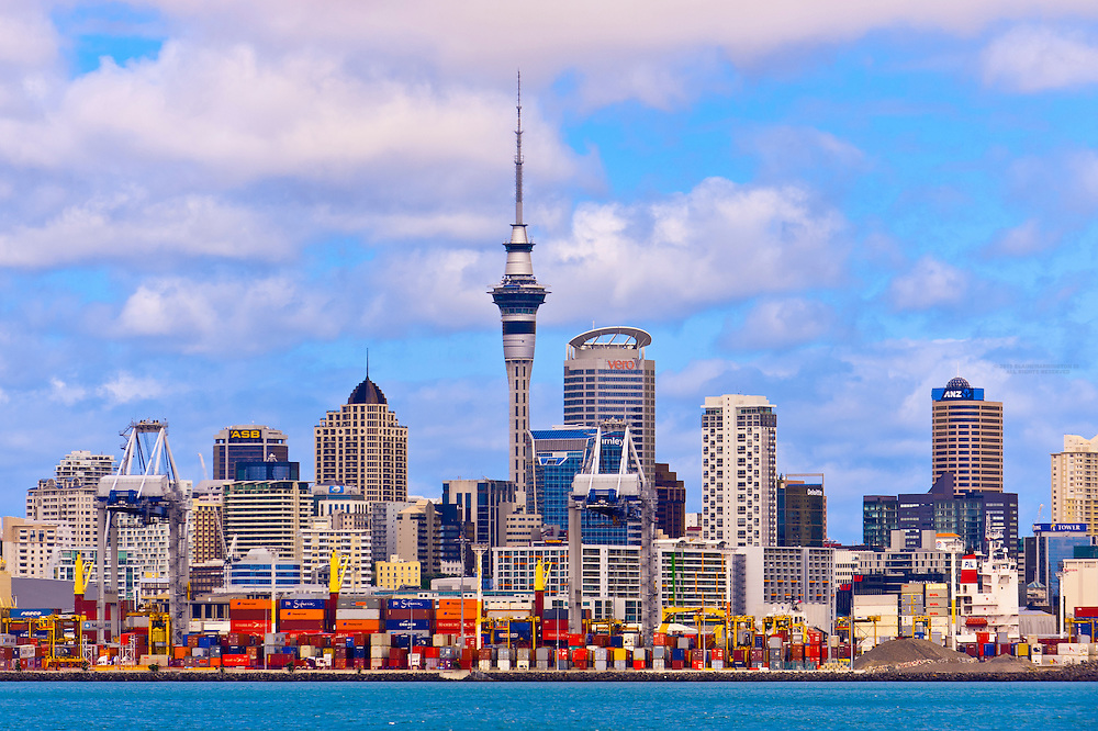 The port of Auckland, New Zealand