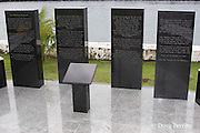 Hellships Memorial at beachfront in Subic Bay Freeport Zone, Philippines commemorates suffering of WWII Allied prisoners on Japanese transport ships