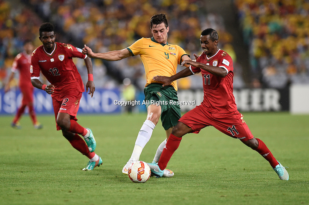 13.01.2015.  Sydney, Australia. AFC Asian Cup Group A. Australia versus Oman. Australian forward Tomi Juric. Australia won the game 4-0.