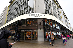 "© Licensed to London News Pictures. 05/09/2018. LONDON, UK.  Rebranding has taken place at the flagship Oxford Street department store of John Lewis.  Now known as ""John Lewis & Partners"", the rebranding puts the group's 83,000 staff, known internally as partners, at the ""heart of the business"" and will take five years to roll out across stores nationwide.  Waitrose will also rebrand to ""Waitrose & Partners"" as the group faces increasing challenges in the high street.  Photo credit: Stephen Chung/LNP"
