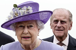 Jan. 1, 2000 - Vatican City, VATICAN - Queen Elizabeth II  and Prince Philip, Duke of Edinburgh, background,  arrive at Rome's Ciampino military airport to start a one-day visit to Italy and the Vatican, Thursday, April 3, 2014. The British Royals will meet Italian President Giorgio Napolitano during an official lunch at the Quirinale Presidential Palace and Pope Francis at the Vatican in the afternoon. (Credit Image: © Prensa Internacional/ZUMAPRESS.com)