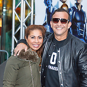 NLD/Amsterdam/20150518 - IMAX-première van X-Men: Apocalypse, Najib Amhali en partner Niama El Bahi - le Boudoir
