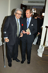 Left to right, EARL GOWRIE and the MARQUESS OF DOURO auctioneers Sotheby's Summer party held at their showrooms in 34-35 New Bond Street, London W1 on 6th June 2005.<br /><br />NON EXCLUSIVE - WORLD RIGHTS
