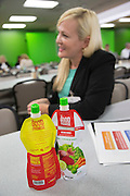 BENTONVILLE, AR - JULY 7:  Karen Posada, CEO and founder of The Good Promise, talks about her product at lunch before her presentation to Walmart at the Walmart Head Quarters in Bentonville, Arkansas.<br /> Wesley Hitt for the Wall Street Journal