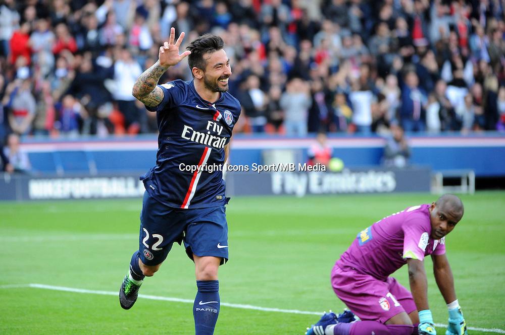 Joie Ezequiel LAVEZZI  - 25.04.2015 - Paris Saint Germain / Lille - 34eme journee de Ligue 1<br />Photo : Nolwenn Le Gouic / Icon Sport
