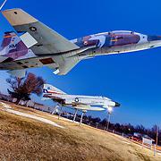 T-38 Talon in foreground, Phantom F-4 in background at the B-29 All Veterans Memorial at the Pratt Municipal Airport, Pratt, Kansas.