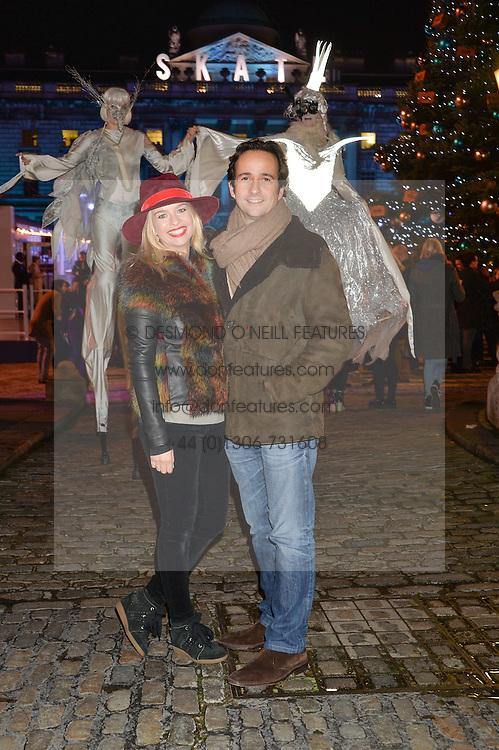 MATT & MARISSA HERMER at Skate at Somerset House in association with Fortnum & Mason held on 10th November 2014.